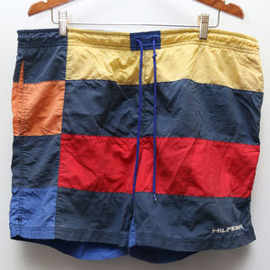 "90's Vintage ""TOMMY HILFIGER"" Colorblocked Trunks"